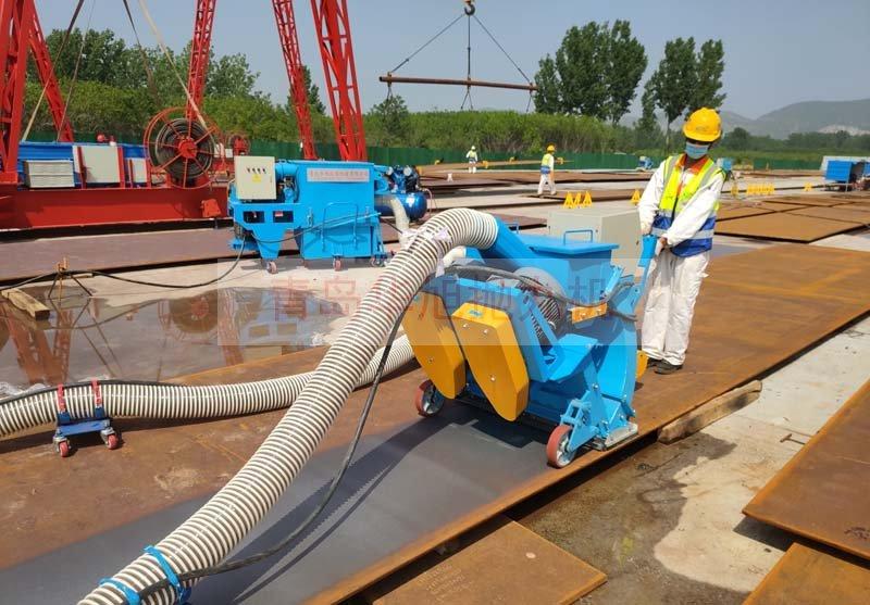 HXPW-850移动式钢板抛丸清理